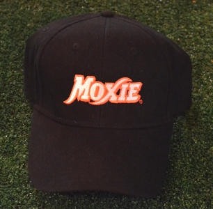 Black Moxie Cap with Orange Outline Logo